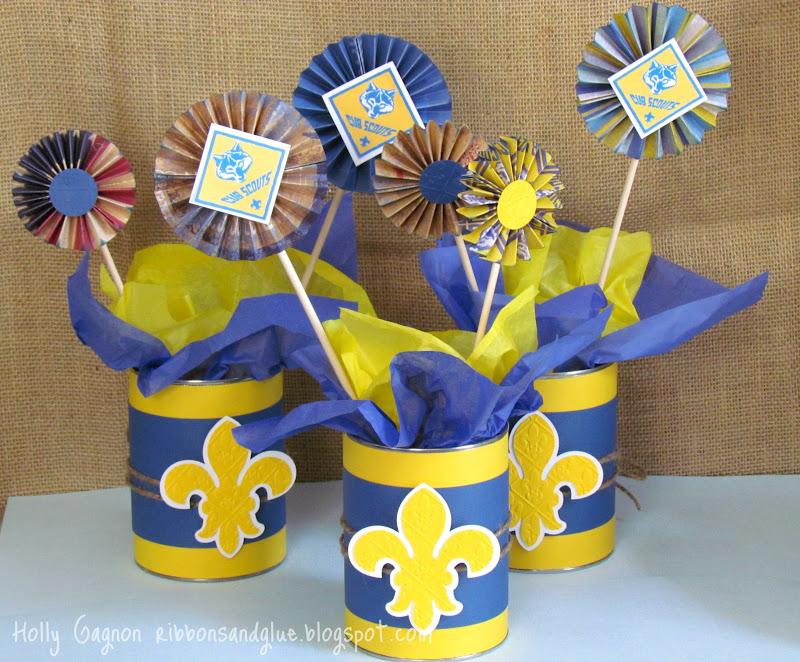Cub Scouts Blue And Gold Banquet Centerpieces