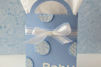 Baby Gift Bag made with Xyron