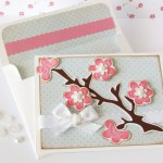 Cherry Blossom Card made with Cricut