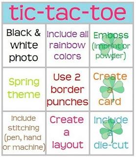 Tic Tac Toe Scrapbooking Challenge