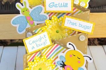 Get Well Bug Cascading Card