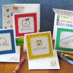 Stamped Teacher Cards for the classroom