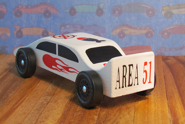 Pinewood Derby Car Cricut.  Area 51 theme
