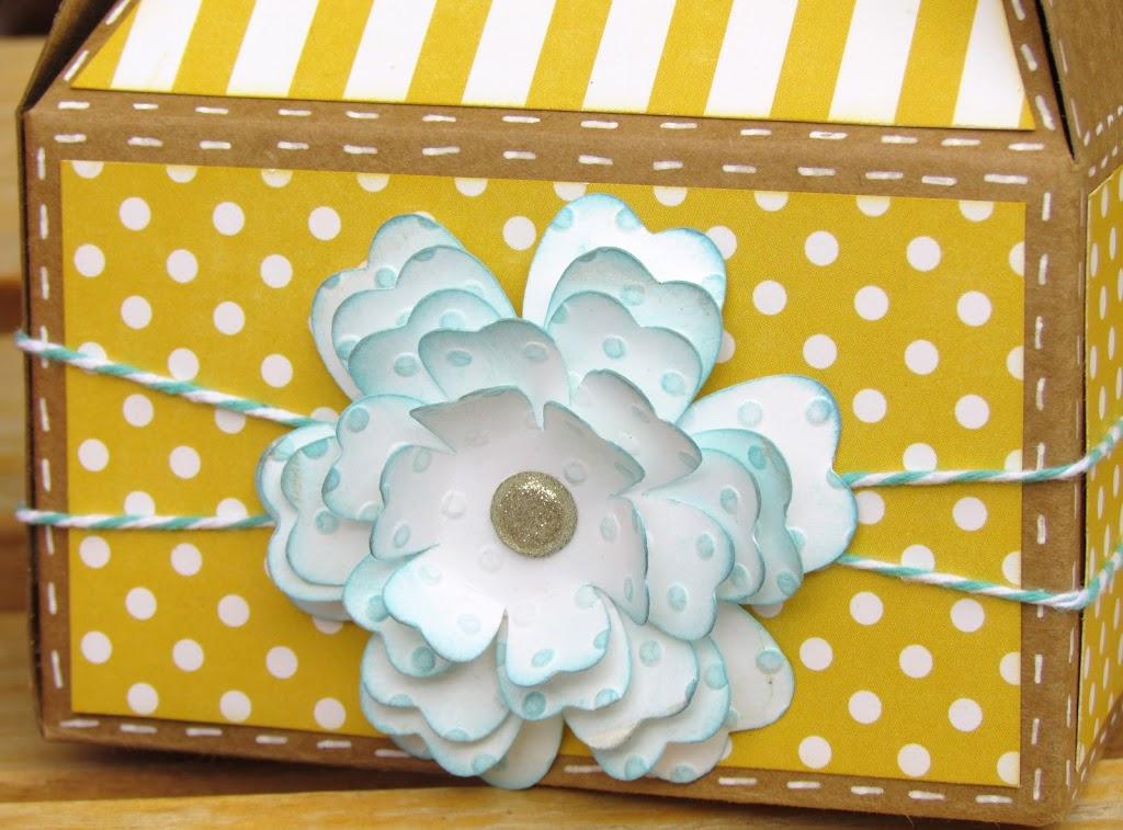 Gable Boxes Embellished with Cricut Flower Shoppe