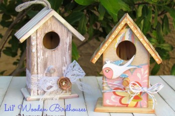 Little Wooden Birdhouses