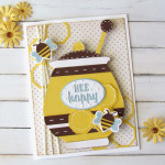 Bee Happy Card made with Cricut
