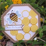 What's the Buzz Bee Card made with Cricut