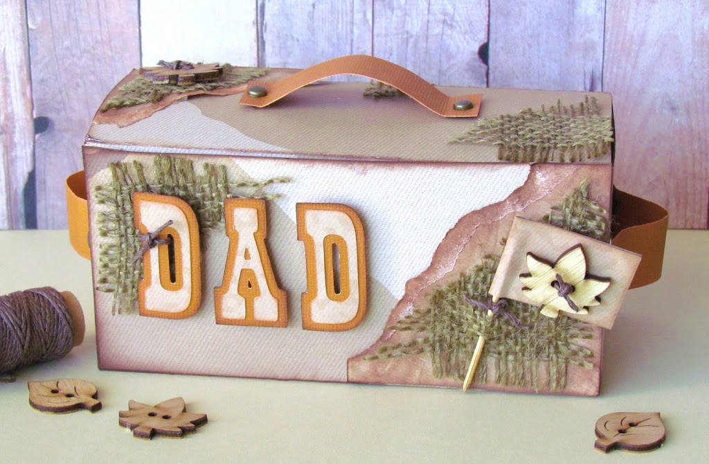 Rustic Father's Day Box  made with Cricut Old West