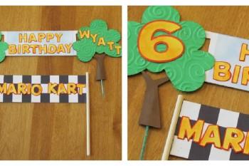 Mario Kart Birthday Banner