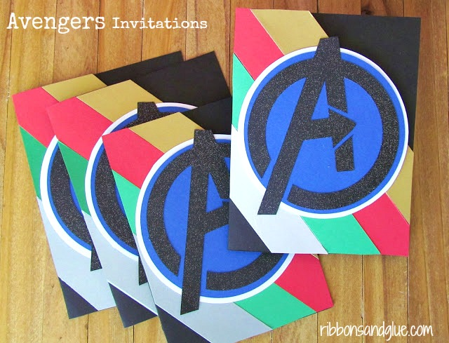 Avengers Assemble Birthday Party including party decorations, party banner, cupcake toppers, party favors and DIY Avengers T-Shirts