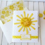 Button Sunshine Card made with Cricut