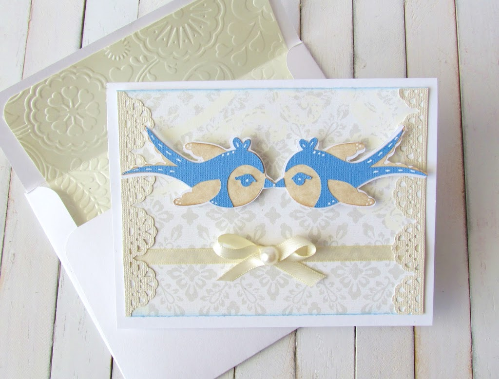 Blue Birds Wedding Card