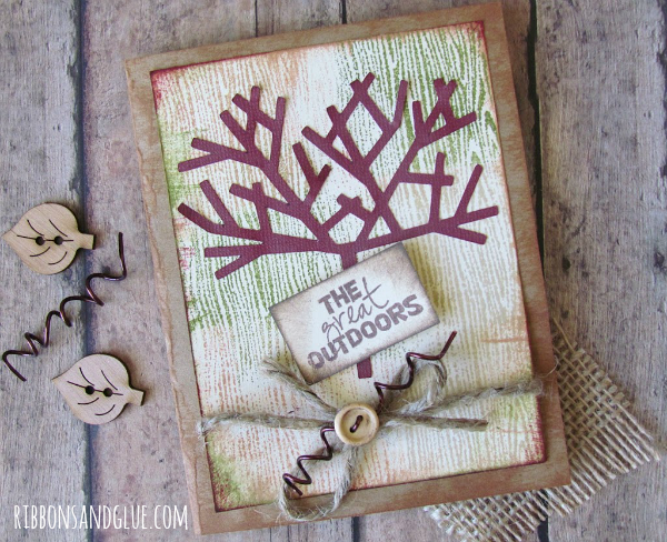 Rustic Outdoor Card made with Cricut