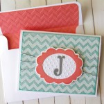 Embossed Chevron Card made with Cricut