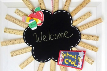 DIY Back to School Ruler Wreath
