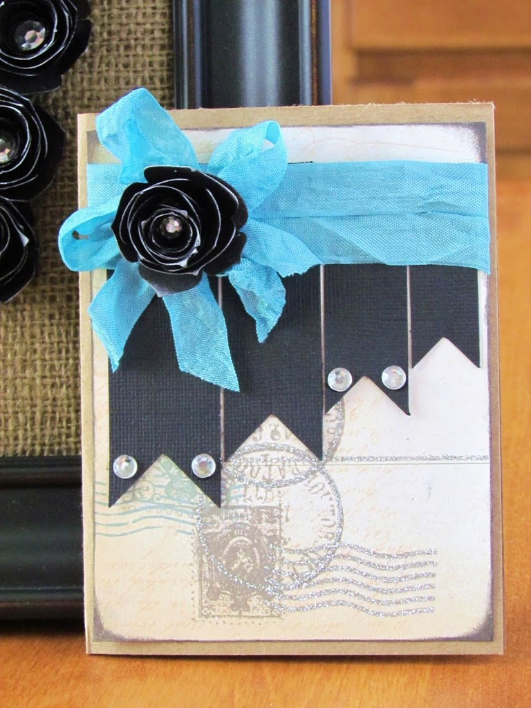 Crinkle Ribbon Card with Kraft Paper