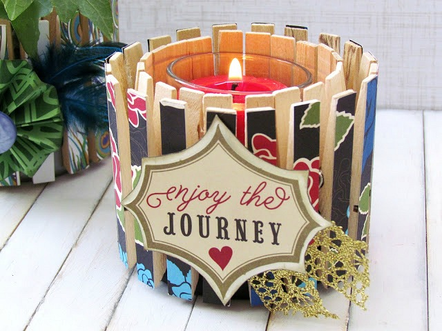 Clothespin Candle Holder. such a Simple DIY Gift idea!