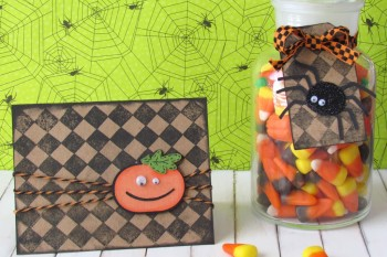 Halloween Card and Tag made with Cricut