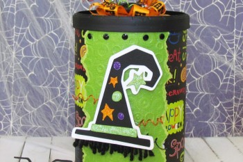Coffee Can Halloween Canister
