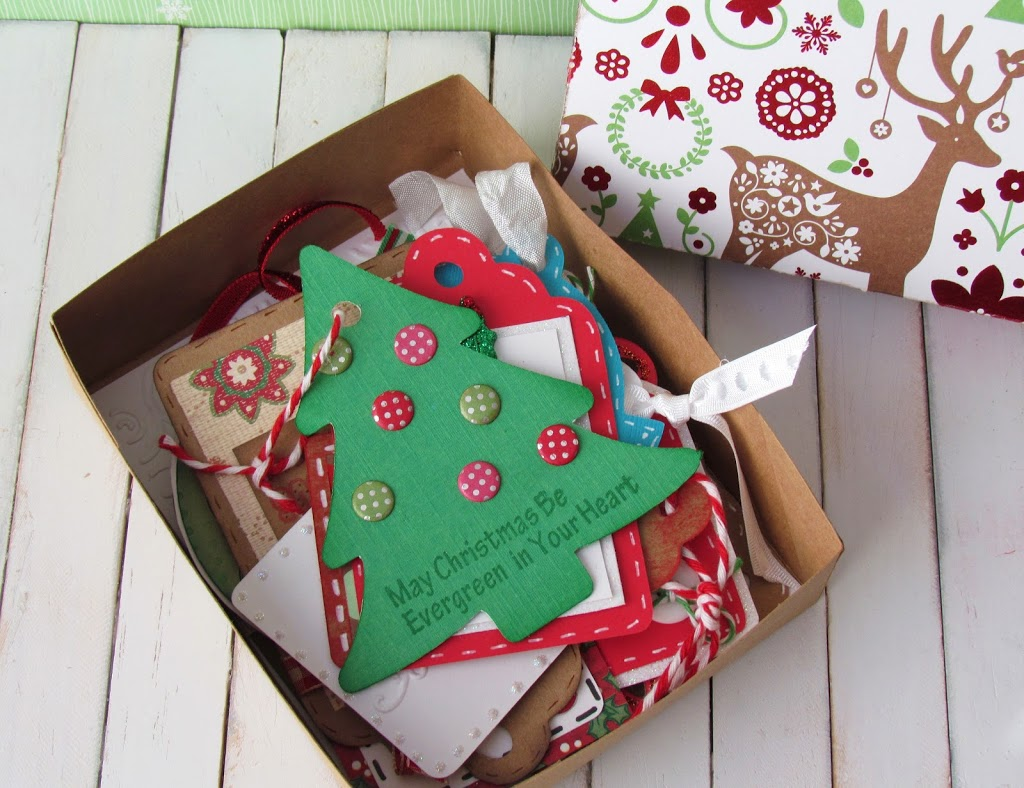 Christmas Gift Tag Exchange.  Make 12 tags for 12 days of Christmas to exchange with friends for the hoidays