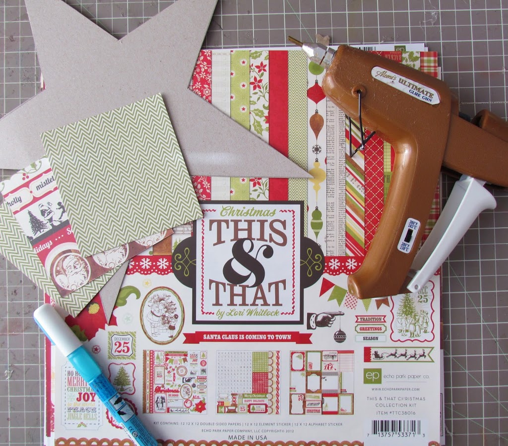Supplies to make a Paper Cone Wreath