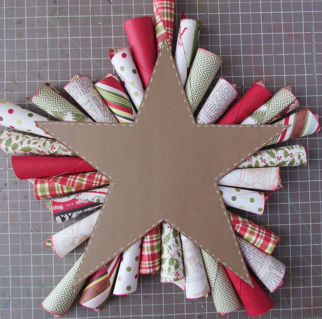 Paper Cone Star Wreath