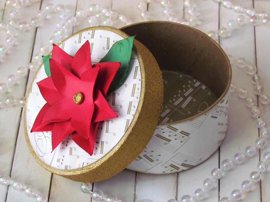 Paper Mache Christmas Box