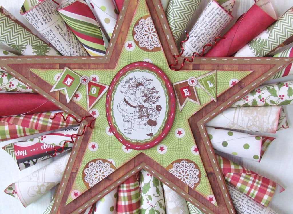 Paper Cone Star Wreath Christmas