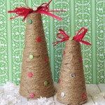 Jute Wrapped Christmas Trees