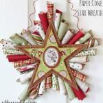 DIY Star Paper Cone Wreath tutorial