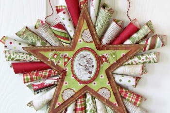 DIY Star Paper Cone Wreath tutorial