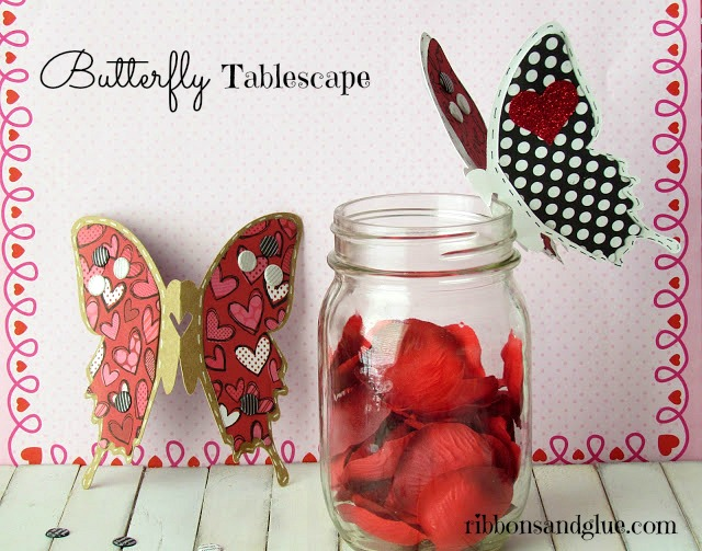 Valentines Butterfly Tablescape