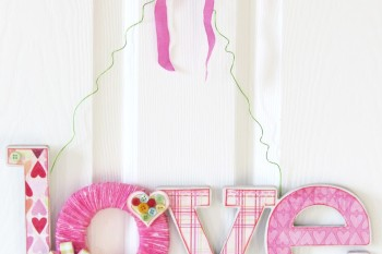 Valentine's Love Yarn Door Hanger