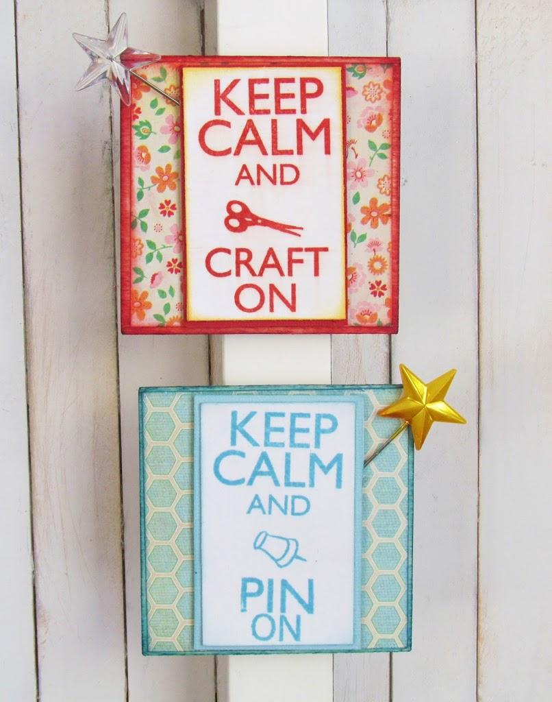 DIY Keep Calm Magnets