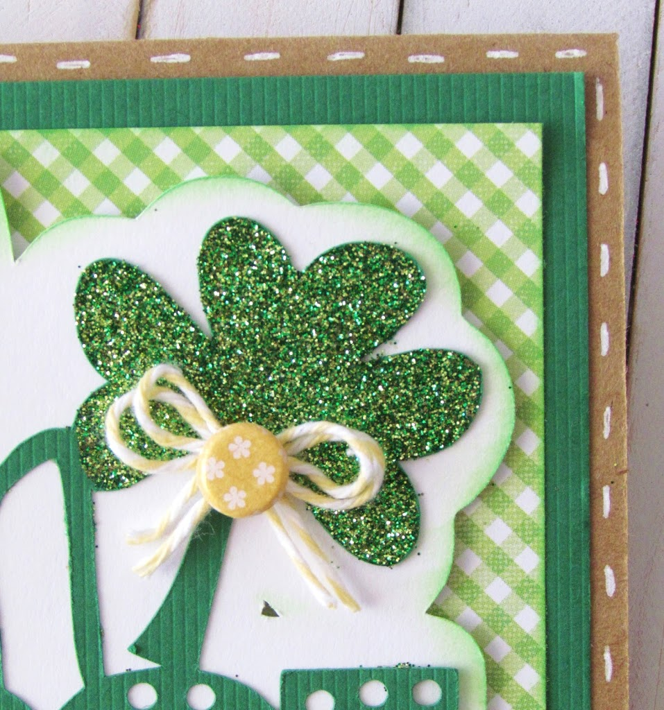 Pinch Proof St. Patrick's Day Card with glitter shamrock