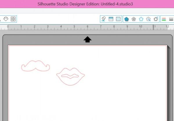 Silhouette Lip and Mustache cut files