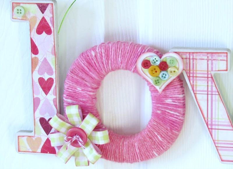Valentine's Love Yarn Door Hanger