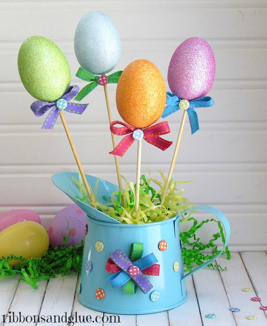 Easter Egg  Centerpiece made from Dollar Store Goods