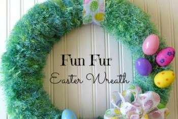 Fun Fur Easter Wreath