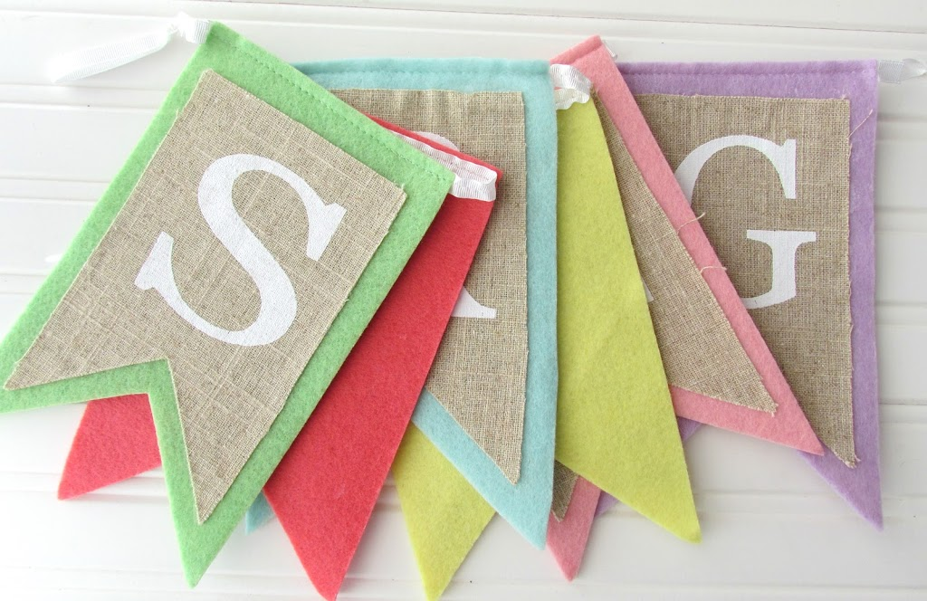 Pre-Made Spring Burlap Banner from Target!