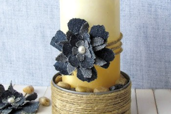 DIY Shabby Chic Candle Holder