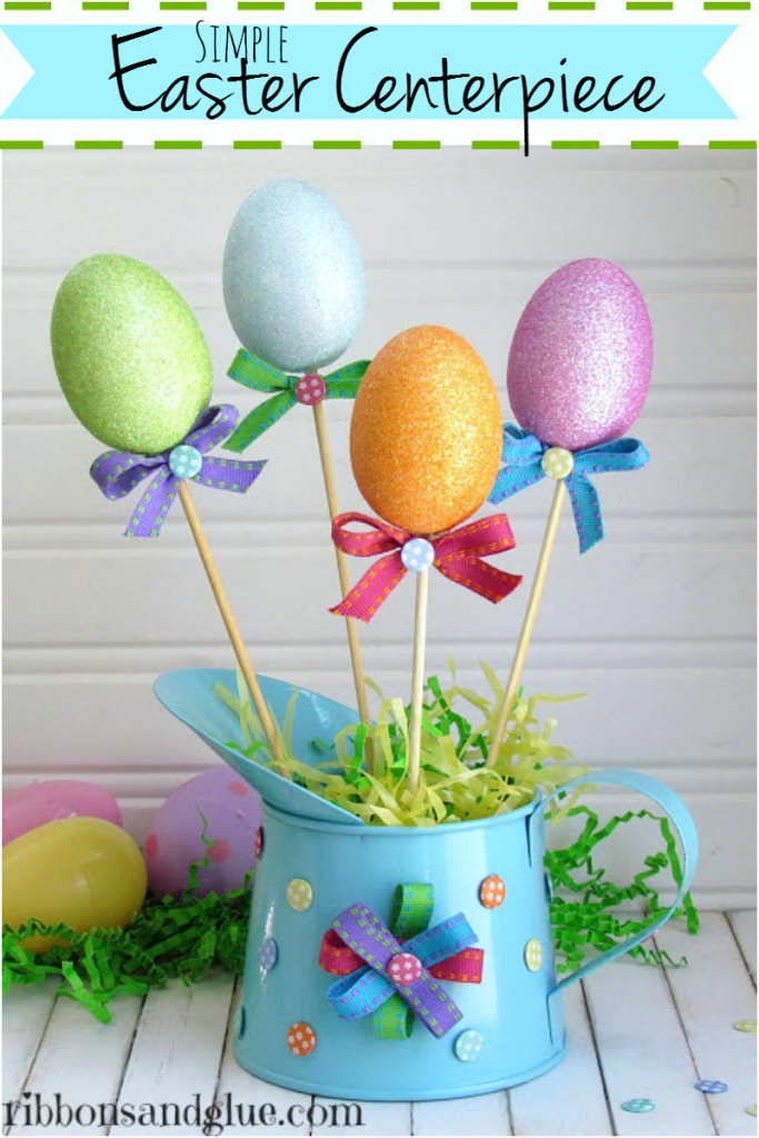 Easter Egg Centerpiece made from Dollar Store Items