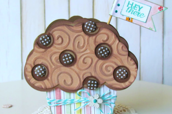 Chocolate Chip Muffin Card made with @silhouetteamerica