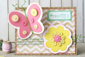 Spring Button Card