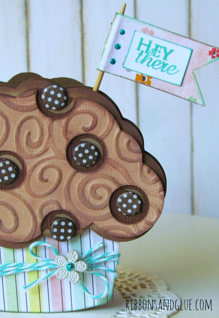 Shaped Chocolate Chip Muffin Card made with @silhouetteamerica
