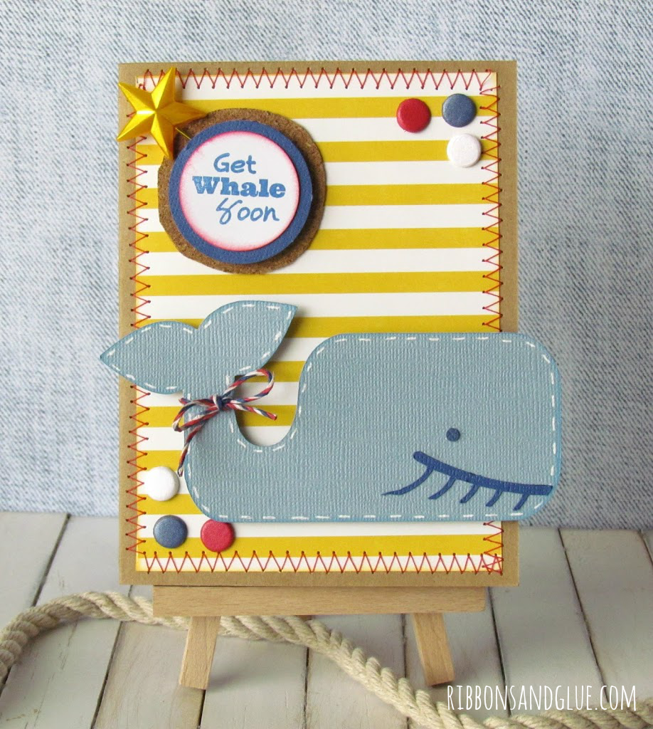 Get Whale Soon Card made with Silhouette