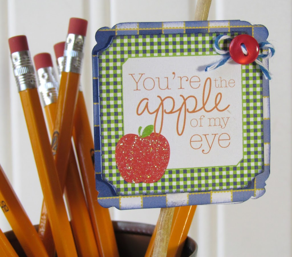 Apple of My Eye Upcycled Teacher's Gift