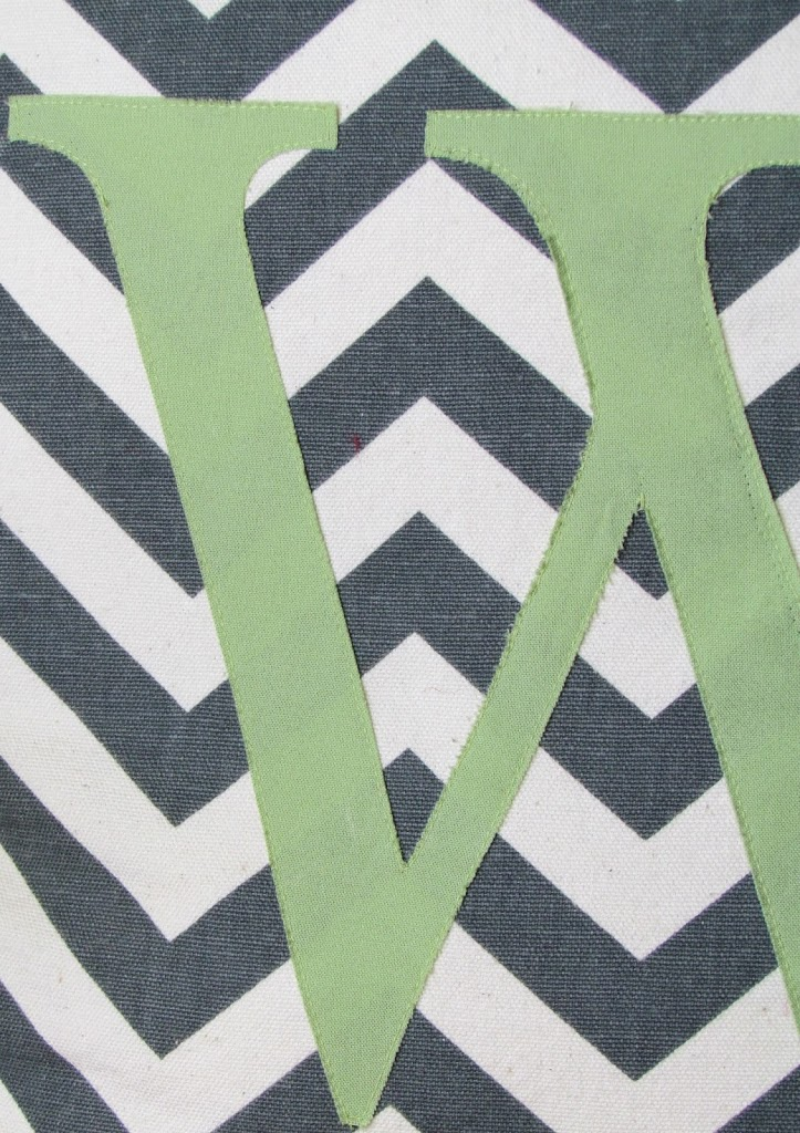 Chevron Monogrammed Pillow  made with @silhouettepins