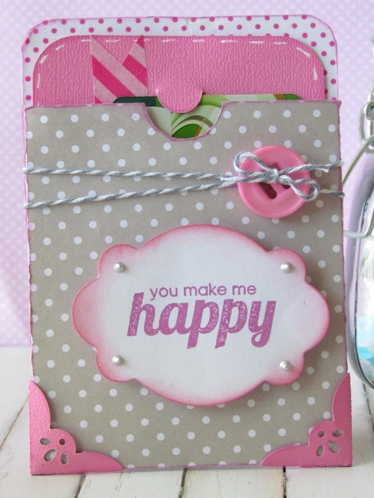 Happy Gift Card made with Silhouette