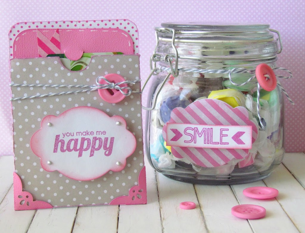 Happy Gift Card and Smile Candy Jar Set